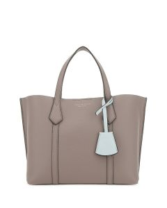 TORY BURCH-PERRY SMALL TRIPLE- COMPARTMENT TOTE- GREY HERON