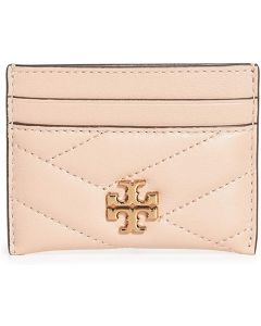 TORY BURCH-KIRA CHEVRON CARD CASE- SAND