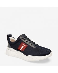 BALLY BINKY MEN'S FABRIC TRAINER IN NAVY BLUE