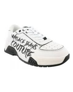 Versace Jeans Couture White Classic Graffiti Sneakers