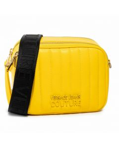 Versace Jeans Couture Yellow Nappa Quilted Crossbody Bag