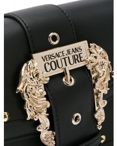 VERSACE JEANS COUTURE embossed buckle tote