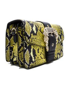 VERSACE JEANS COUTURE Shoulder bag with Python print Yellow