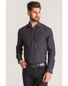 VERSACE COLLECTION CAMICIA NEW CITY PATTERNED GRAY SHIRT-46