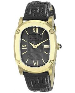 EAN 7630030500572 - Women's Versace 'Couture' Oval Leather Strap Watch, 24mm x 41mm Black/ Gold oval