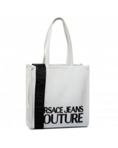 VERSACE JEANS COUTURE NAPLAK MACROLOGO WHITE TOP HANDLE BAG
