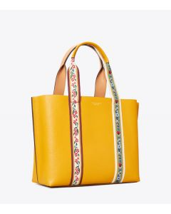 TORY BURCH-PERRY HIGH FREQUENCY TRIPLE- COPARTMENT TOTE- DARK SOLARIUM